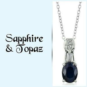 Madagascar Sapphire & Topaz Necklace